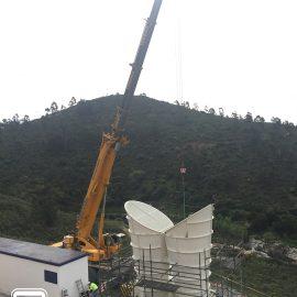 Alquiler de Grua para el Montaje de ventilador vertical en Mina